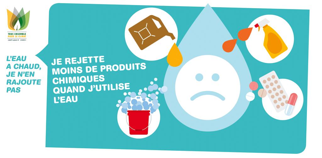 Rejeter moins de produits chimiques en utilisant l'eau