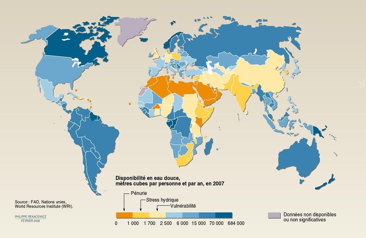 Disponibilité en eau douce et stress hydrique