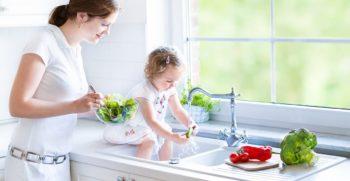 Les aliments frais et l'eau du robinet