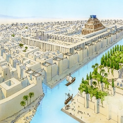Illustration de l'ancienne cité de Babylone