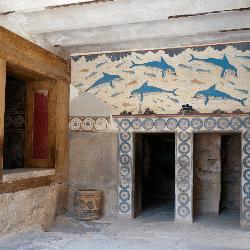 Fresque des dauphins dans le palais de Cnossos