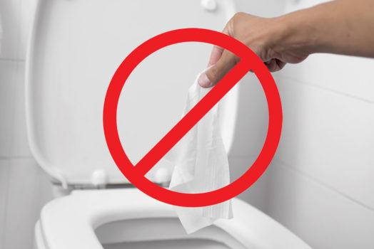 Les toilettes ne sont pas des poubelles