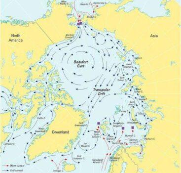 Gyre de Beaufort, situé en Arctique (source : Futura Planète)